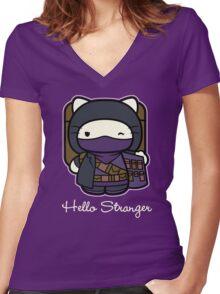 Hello Stranger Women's Fitted V-Neck T-Shirt