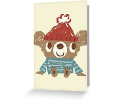 Sketch of Bear sitting Greeting Card