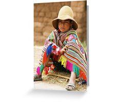 Colouful Peruvian Boy Greeting Card