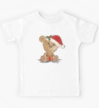 Teddy bear at Christmas Kids Tee