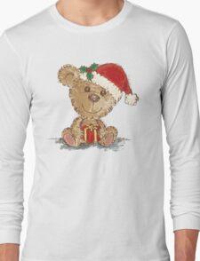Teddy bear at Christmas Long Sleeve T-Shirt