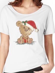 Teddy bear at Christmas Women's Relaxed Fit T-Shirt