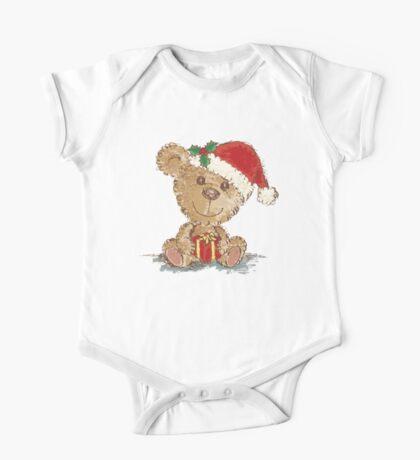 Teddy bear at Christmas One Piece - Short Sleeve