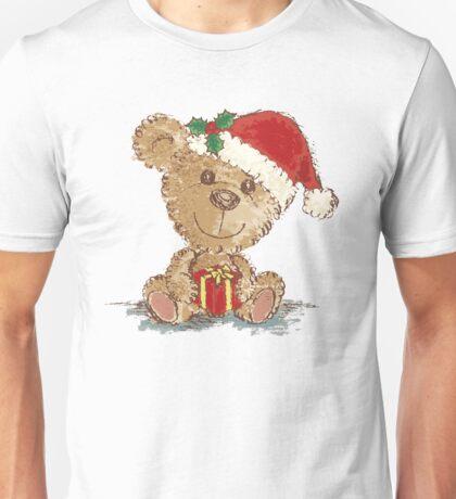 Teddy bear at Christmas Unisex T-Shirt