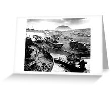 Iwo Jima Beach Painting  Greeting Card