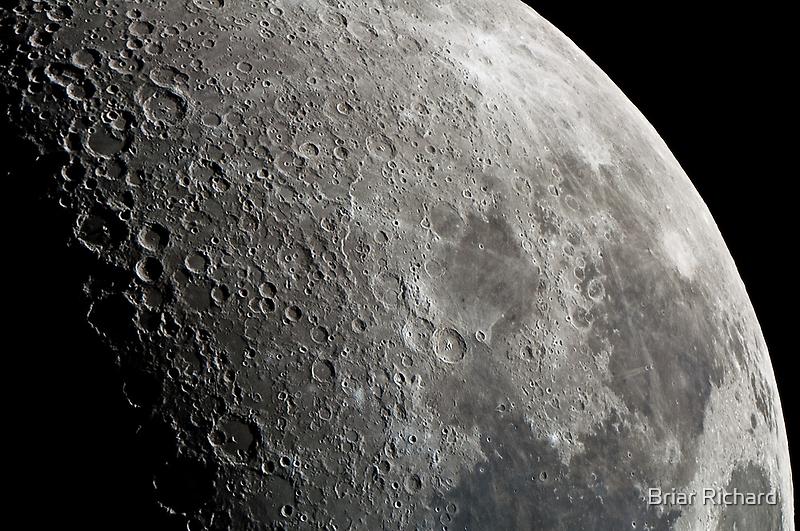 "First Quarter Moon - Highland Road Park Observatory - 20"" OGS by Briar Richard"