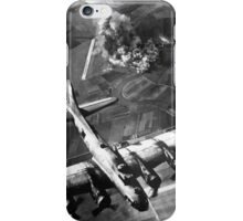 B-17 Bomber Over Germany Painting iPhone Case/Skin