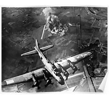 B-17 Bomber Over Germany Painting Poster