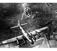 B-17 Bomber Over Germany Painting Photographic Print