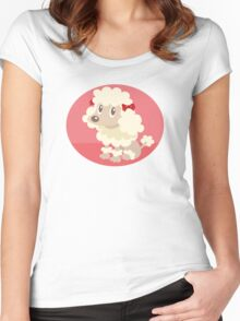 Poodle sitting Women's Fitted Scoop T-Shirt