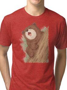 Bear on tree Tri-blend T-Shirt