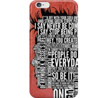 Typography Tyler Durden iPhone Case/Skin