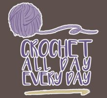 Crochet All Day Every Day One Piece - Short Sleeve