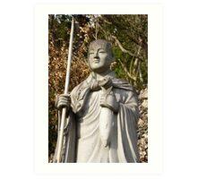 buddha standing japan Art Print