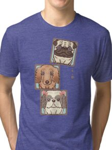 Square Dogs Tri-blend T-Shirt