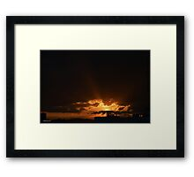 Sunset in Mexico City Framed Print