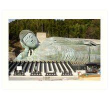 reclining buddha japan Art Print