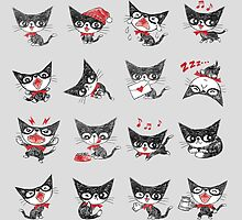 Many cats by Toru Sanogawa
