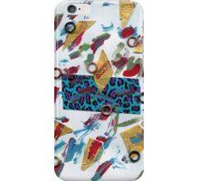 Colorful Metallic Grunge Splatters iPhone Case/Skin