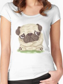 Thoughtful pug Women's Fitted Scoop T-Shirt