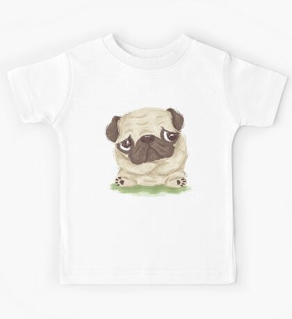 Thoughtful pug Kids Clothes