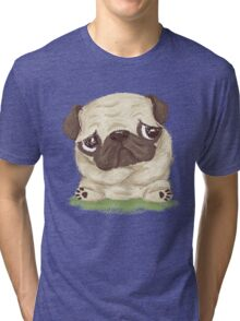 Thoughtful pug Tri-blend T-Shirt