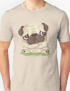 Thoughtful pug Unisex T-Shirt