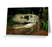 Out-Distancing Dinosaurs Greeting Card