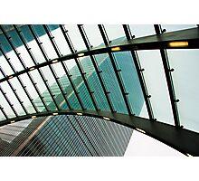 Polarised View: Canary Wharf, Tube Station, London, UK. Photographic Print