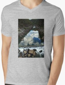 Rocks 'n Reflections - Historic Cataract Gorge Mens V-Neck T-Shirt