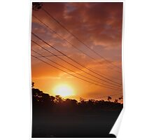 Urban Sunset in Winter Poster