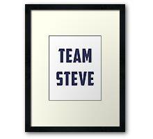 Team Steve Framed Print