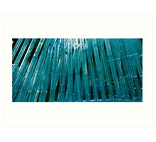 Glass bamboo Art Print