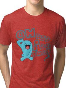 wobbaffet pokemon did i do that? Tri-blend T-Shirt