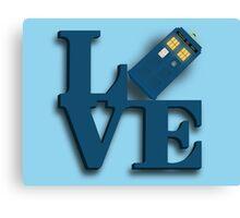 Doctor Who Love Tardis Canvas Print