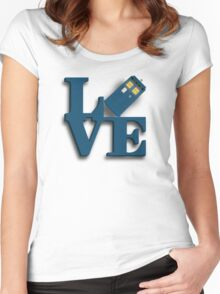 Doctor Who Love Tardis Women's Fitted Scoop T-Shirt