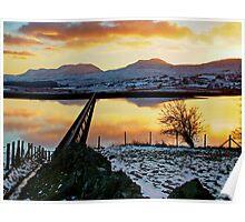 Llyn (Lake)Trawsfynydd, North Wales,  Poster