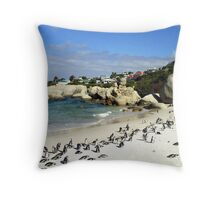 Penguin Paradise Throw Pillow