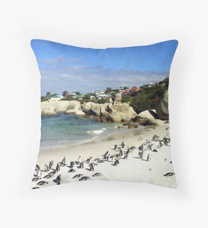 Penguin Paradise Throw Pillow