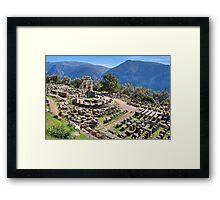 Athena Pronaia Sanctuary Framed Print
