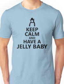 Tom Baker Keep Calm Jelly Baby Unisex T-Shirt