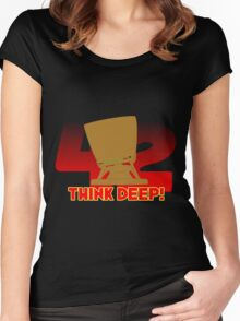 Think Deep Women's Fitted Scoop T-Shirt