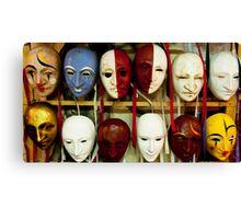Happy, Sad - Masks of Venice Canvas Print