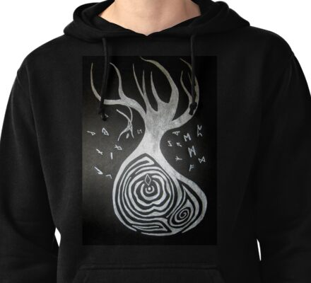 Odin and the Yggdrasil tree Pullover Hoodie