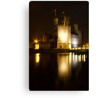 Castell Caernarfon At Night Canvas Print
