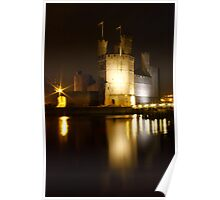 Castell Caernarfon At Night Poster