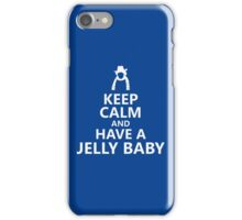 Tom Baker Keep Calm and Have a Jelly Baby iPhone Case/Skin