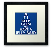 Tom Baker Keep Calm and Have a Jelly Baby Framed Print