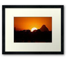 Sunset over Golden Beach,Caloundra Queensland. Framed Print