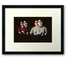 telephone wire Framed Print